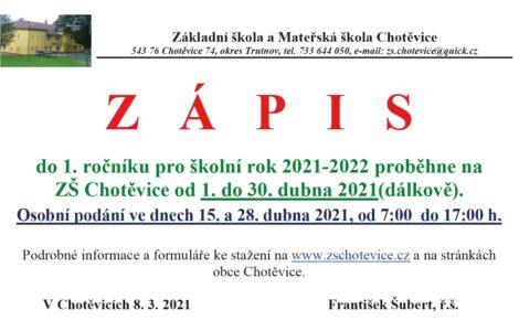 ZÁPIS 2021