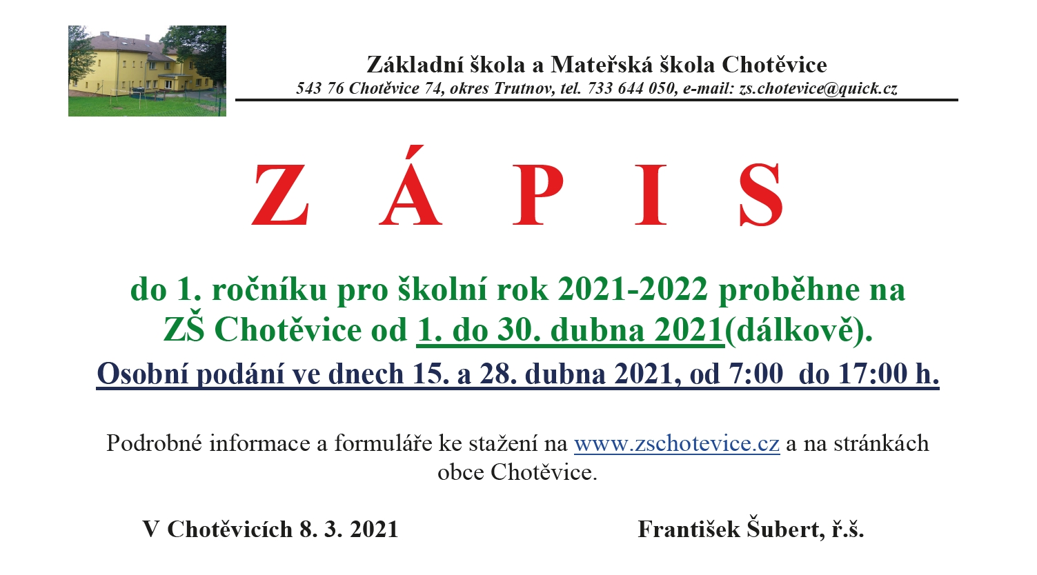 You are currently viewing ZÁPIS 2021